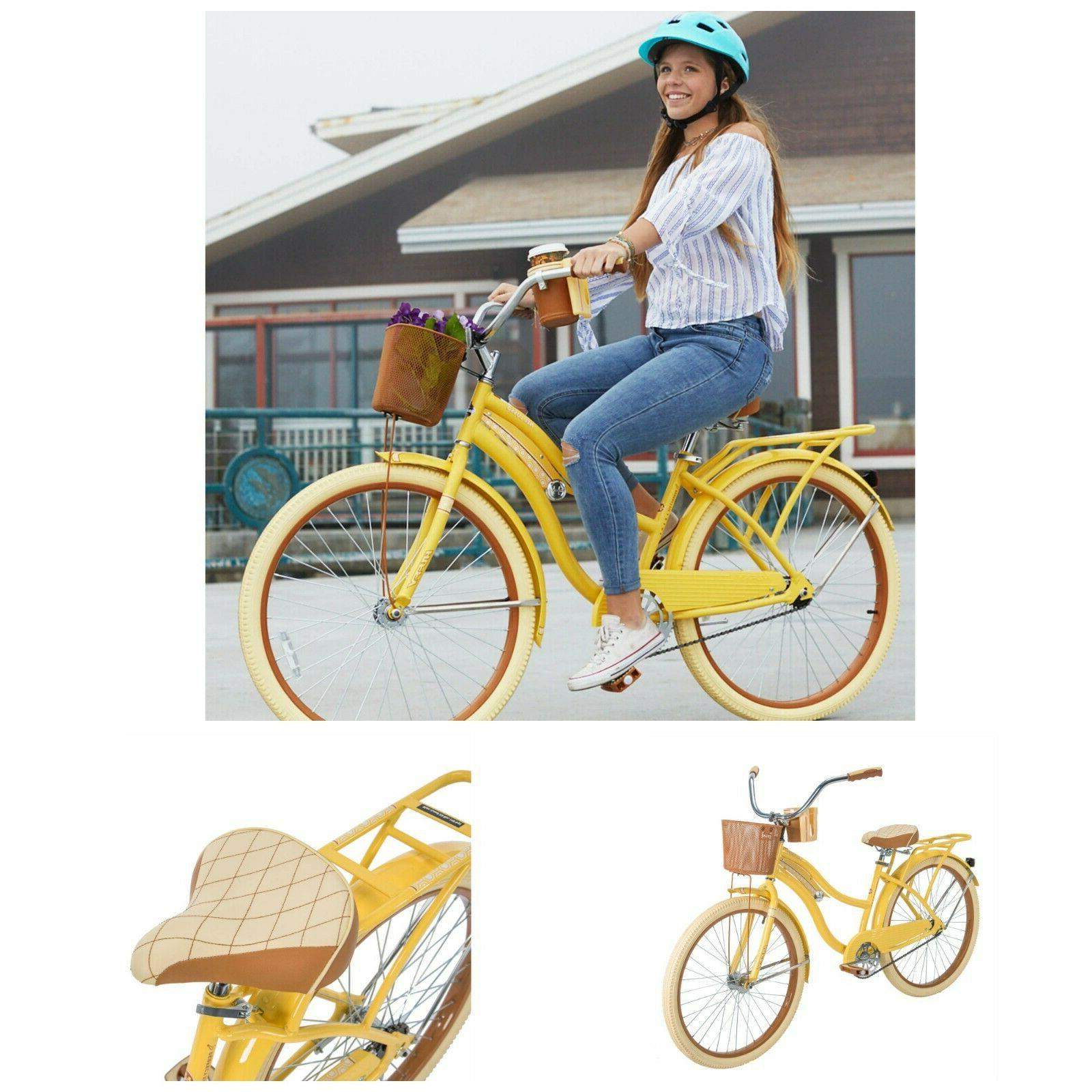 Womens Vintage Beach Basket Cruising
