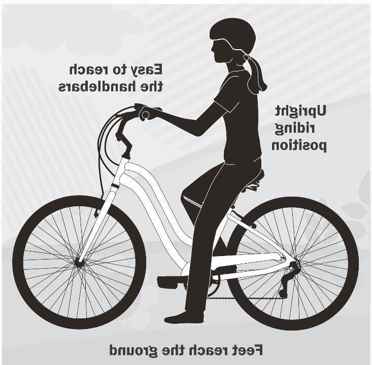 Womens 26 White Ride Comfort