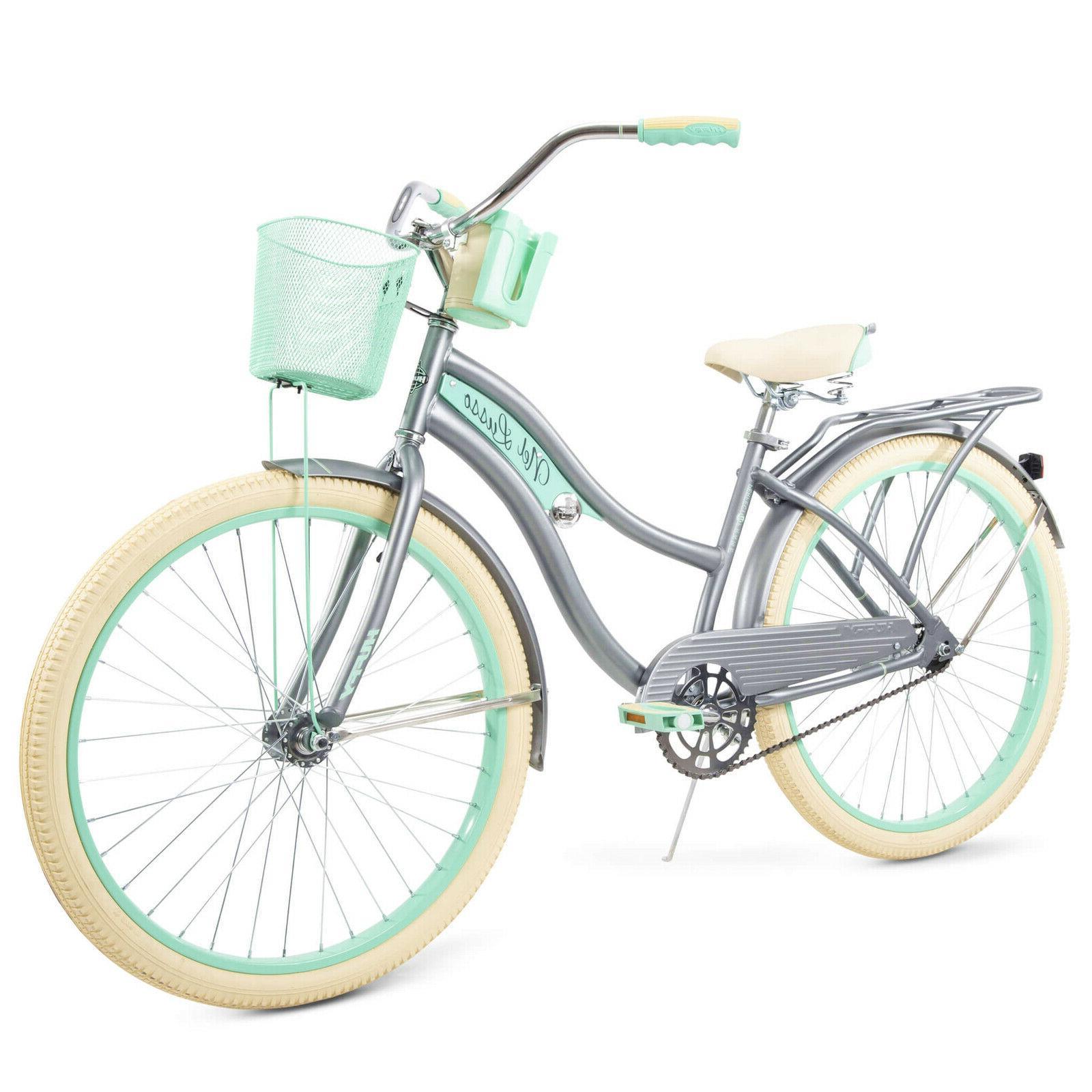 womens classic cruiser bike gray 26 nel