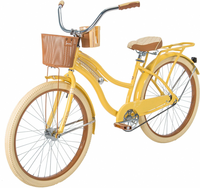 Womens Cruiser Bike Vintage Beach Bicycle Basket Ladies Cruising