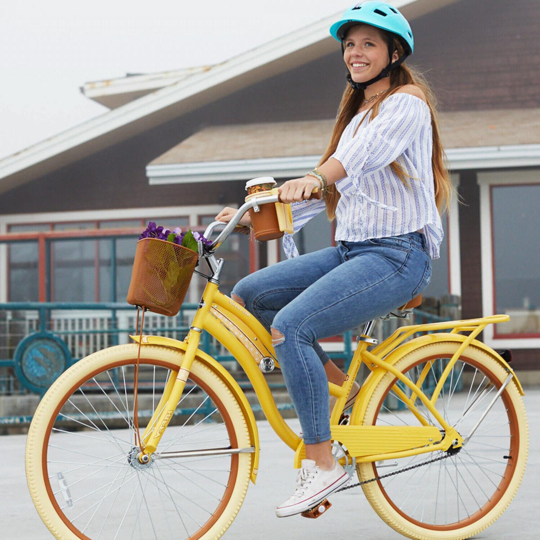 Womens Cruiser Bike 26 Vintage Beach Basket Ladies