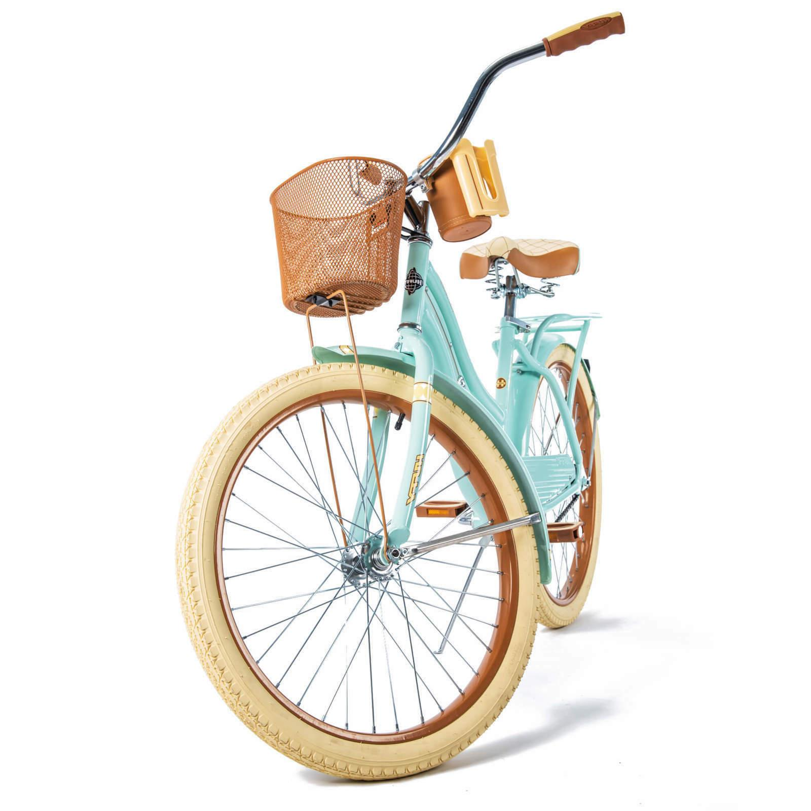 Huffy Cruiser Bike with Basket, Mint Green