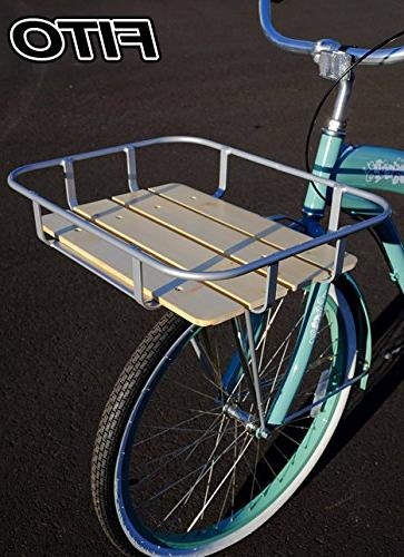 """Fito Aluminum Alloy in 19.75""""x15.25""""x3.5"""", for Beach Cruiser Bikes Bicycles"""