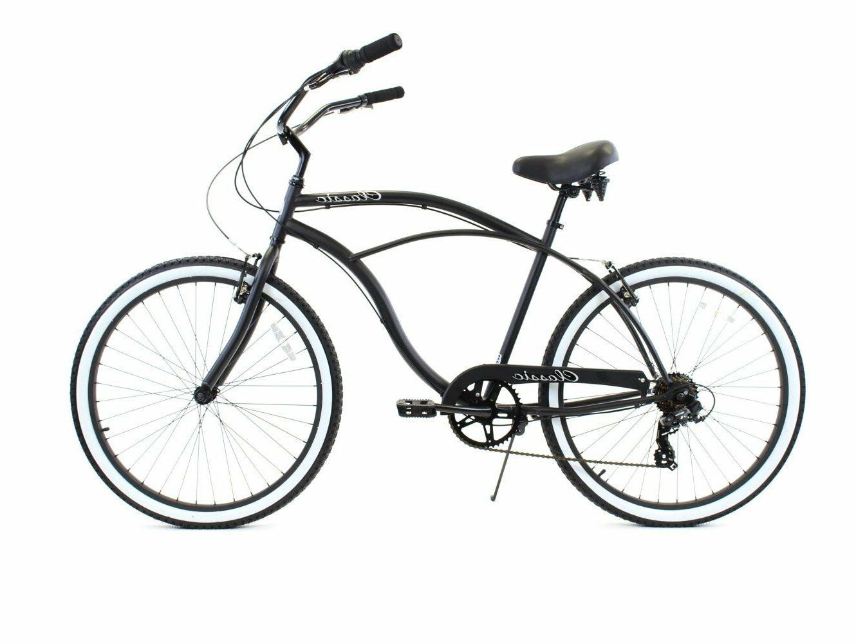 zf bikes classic men 7 speed black