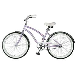 Lavender 16 in. Steel Frame Malana Cruiser Girl's Bicycle wi