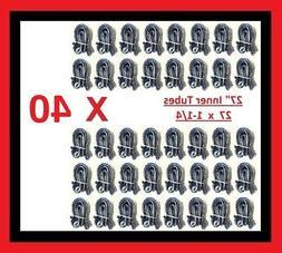 "Lot of 40 Bicycle Bike Cycle Tube 27"" x 1-1/4 Inner Tubes 27"