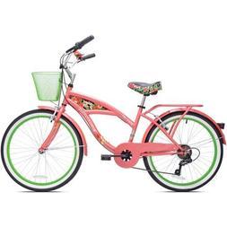 "24"" Girls Margaritavill Island Life Multi Speed Bicycle, Cor"
