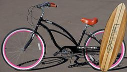 Fito Marina Alloy 7-speed - Black/Pink, Aluminum Light Weigh
