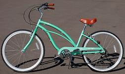 marina alloy 7 speed mint green aluminum