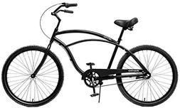 Fito Men's Marina Aluminum Alloy 3-Speed Beach Cruiser Bike,