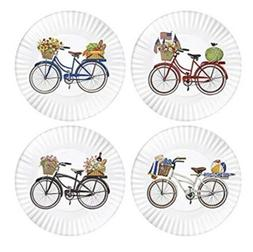 Mary Lake-Thompson Summer Bikes 9-inch Melamine Plates, Set