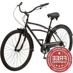 """Schwinn Men's Midway Cruiser Bike 29"""" Wheels 7 Speeds Black"""