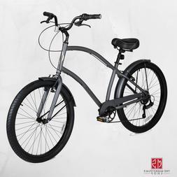 Mens Cruiser Bike 26 Inch Bicycle Lightweight Aluminum Frame