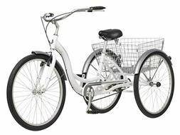 Schwinn Meridian Adult Trike, Three Wheel Cruiser Bike, Mult