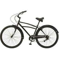 "Schwinn Midway 29"" 7 Speed Mens Beach Cruiser Bike - Black -"