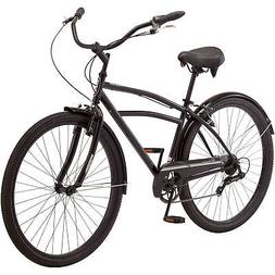 Midway Cruiser Bike 29 Inch for Men Black 7 Speed Shifters L