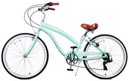 "Fito Modena II Alloy 7-speed - Mint green, Women's 26"" Beach"