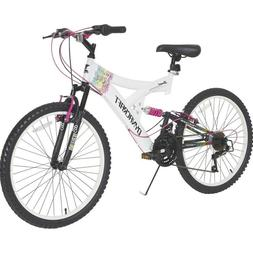 """Mountain Bike For Girls 24"""" Womens Bicycle 21 Speed All Terr"""