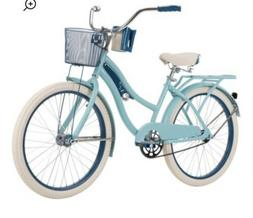 Huffy Nel Lusso Girl's Cruiser Bike Blue 24 Inch