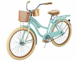 Huffy Nel Lusso Women's Cruiser Bike, Mint, 24 Inch