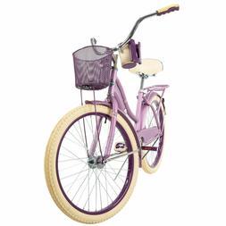 "NEW Huffy 24"" Nel Lusso Girls' Cruiser Bike Purple SHIPS FRE"