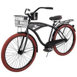 "NEW 26"" Huffy Nel Lusso vintage Mens Cruiser Bike Black Beac"
