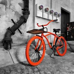 New Beach Cruiser Bike Seat and Grip set! Cruiser Bike Seat