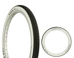 """New! Bicycle Tire 20"""" x 1.75 Lowrider Raised Letter Beach Cr"""