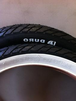 """NEW BICYCLE TIRE 24"""" X 3.0 SLICK WHITE WALL or ALL BLACK BEA"""