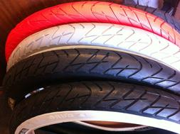"""NEW BICYCLE TIRE 26"""" X 3.0 SLICK red black blue BEACH CRUISE"""