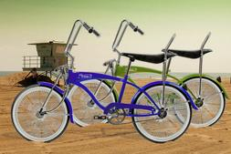 "20"" Cruiser Lowrider Bicycle 140 Spokes Fan Rims Banana Seat"