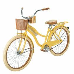 New Huffy Nel Lusso 26 inch Cruiser Bike Yellow Womens Bicyc