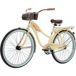 """NEW Huffy Panama Jack 26"""" Beach Cruiser Bike for Women Cream"""