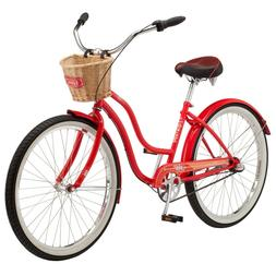 NEW Schwinn Scarlet Womens 26-inch Steel Frame Cruiser Bike-