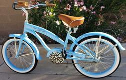 "Colby Cruisers Nicci 20"" Girls Beach Cruiser Baby Blue"