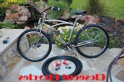 """Pair Duro Flame 26""""X2.125"""" Bicycle Tires/Tubes Beach Cruiser"""