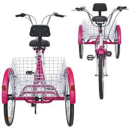 Pro Adult Tricycle Men&Women Beach Cruiser Trike Pedal 3Whee