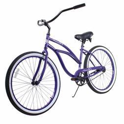 "Purple Adult 26"" ZF Bikes Classic Single Speed Ladies Beach"