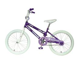 Mantis Girls 20 Inch Purple Ornata Bicycle w White Tires