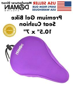 PURPLE Thick Bike Gel Seat Cushion, Soft Spin Class Seat Cov