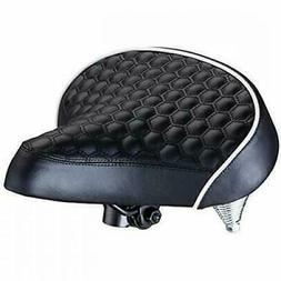 Quilted Wide Cruiser Saddle Bike Saddles Seats Sports &amp O