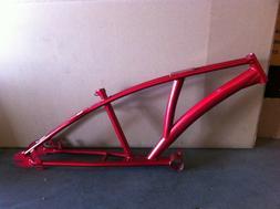 """Red CHOPPER Bike Frame 1"""" Beach Cruiser Trike Bicycle New"""