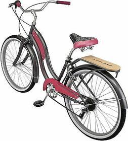 Retro Cruiser Bike 26 Inch Wheels Adult 50s 60s Style 7 Spee
