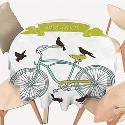 Dragonhome The Round Table Cloth I Love My Bike Concept with