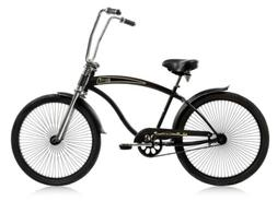 "Micargi ROVER-GT-MBK Men's 26"" Chopper Cruiser Bicycle Bike,"