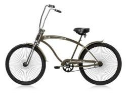 "Micargi ROVER-GT-MGREY Men's 26"" Chopper Cruiser Bicycle Bik"