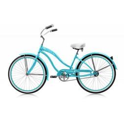 "Micargi ROVER-GX-F-BBL 26"" Women's Beach Cruiser Bicycle Bik"