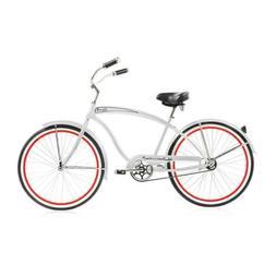 "Micargi ROVER-GX-M-WHI 26"" Men's Beach Cruiser Bicycle Bike,"