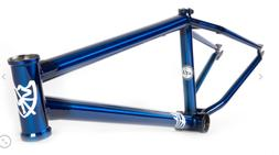 "S&M 24 INCH ATF FRAME TRANS BLUE CRUISER 24"" 21.75 BMX BIKE"