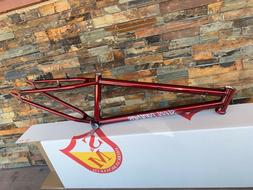 S&M BIKES 24 INCH STEEL PANTHER RACE FRAME TRANS CANDY RED 2